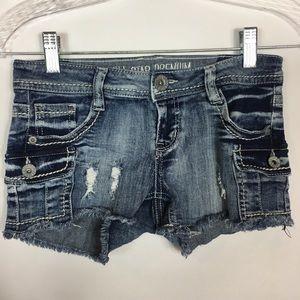 Vanilla Star Premium Jean Shorts, Distressed